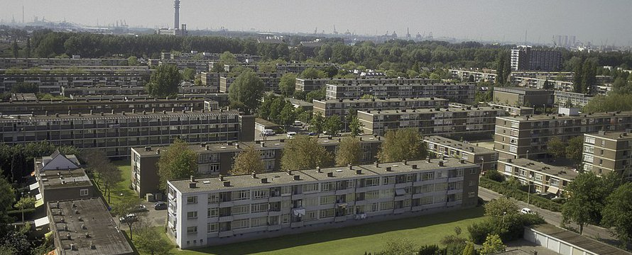 Rotterdam vanaf Burghsluissingel, Wikimedia Commons