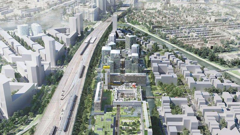 Bajes Kwartier 1 - Bron: Bajes Kwartier Ontwikkeling, ontwerp: OMA, FABRICations, LOLA Landscape) 2020