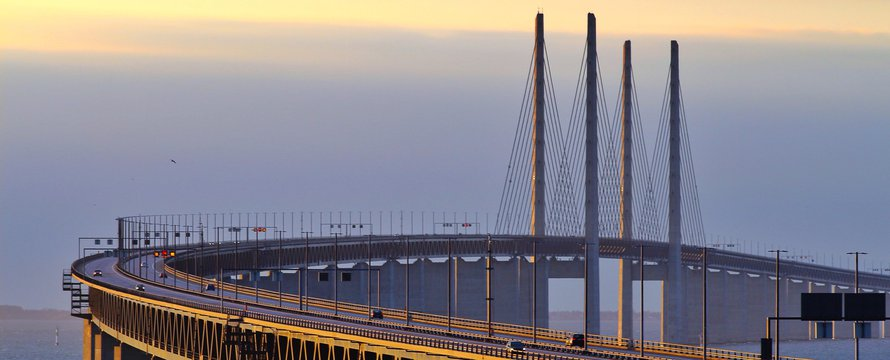 Öresund bridge tussen Malmö en Kopenhagen