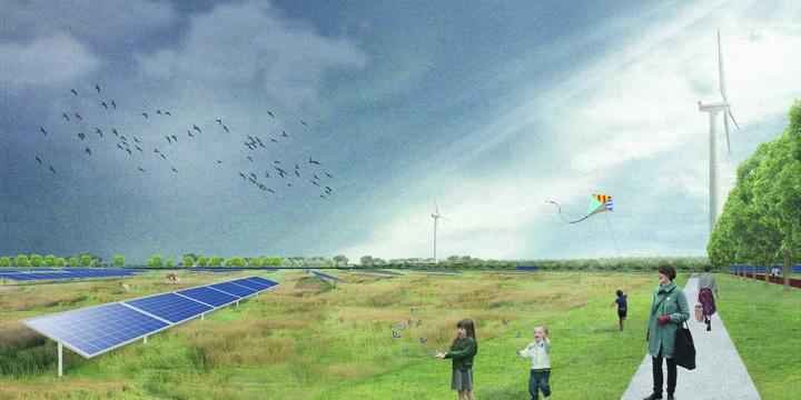 Sfeerimpressie energielandgoed Wells Meer (bron: H+N+S Landschapsarchitecten)