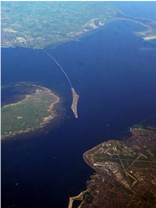 Oresund Bridge, uitzicht van boven. Juni 2008 - Koosha Paridel