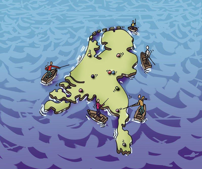 Biljarten op Zee (Bron illustratie: Rémon Mulder)