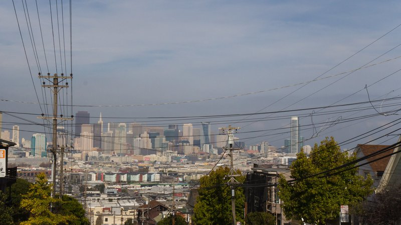 San Francisco Skyline from De Haro & Sou