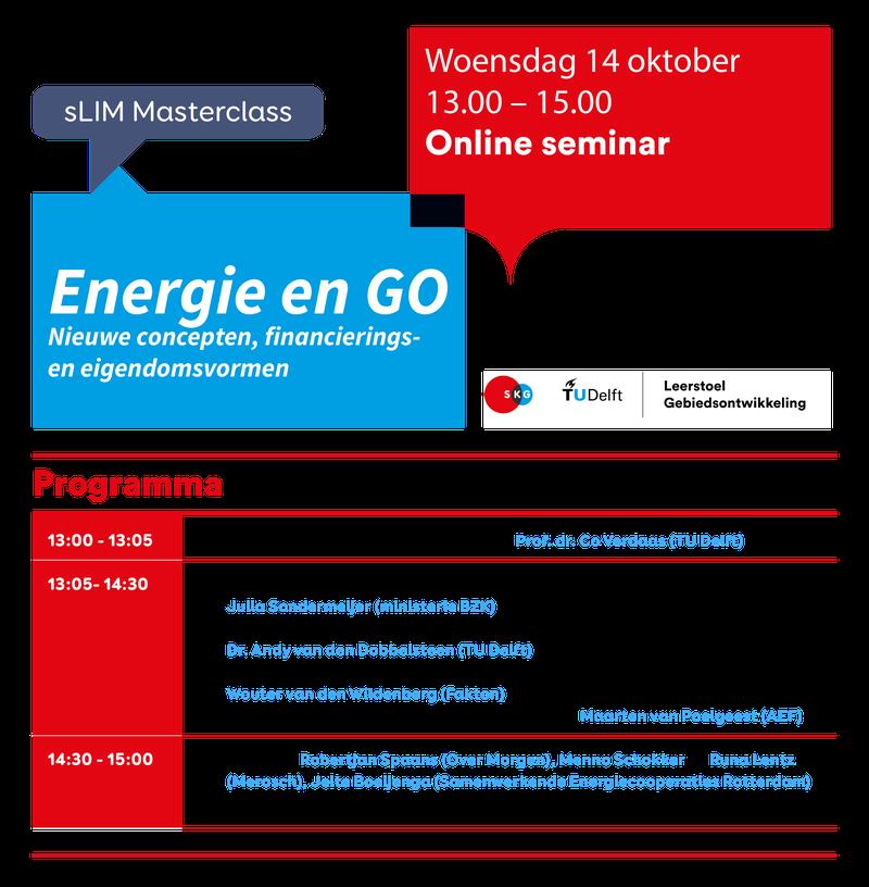 sLIM masterclass Energie & GO programma 2020
