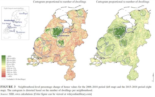 Toenemende ruimtelijke verschillen in huizenprijzen