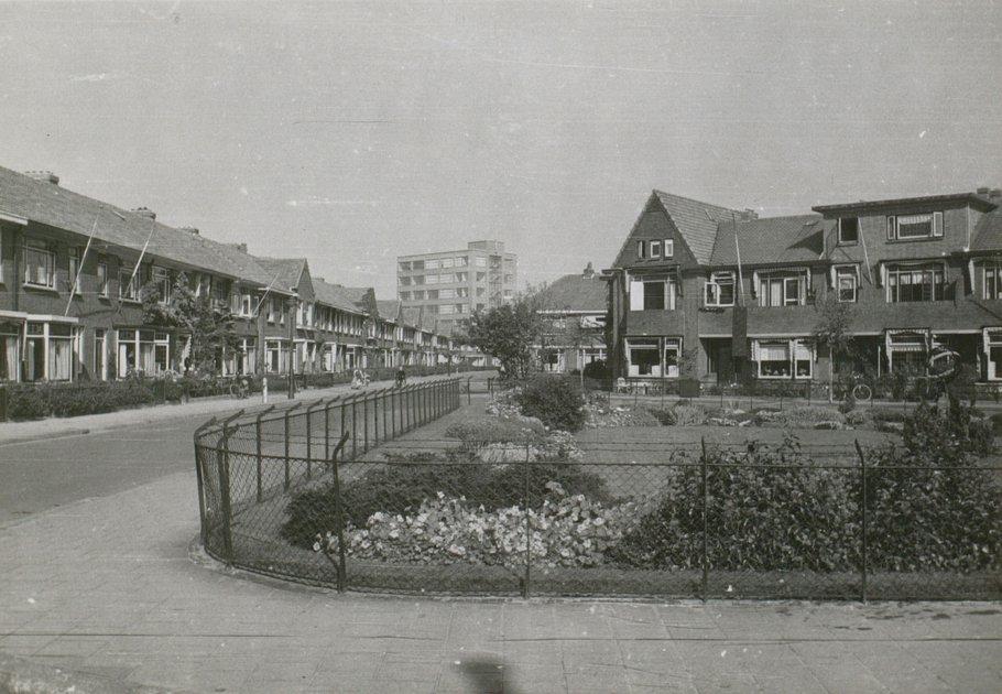 Het plantsoen omstreeks 1960