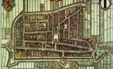 Delft plattegrond 1652