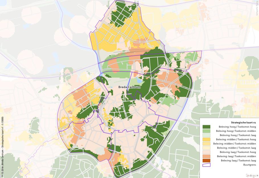 Breda centrum - strategische kaart