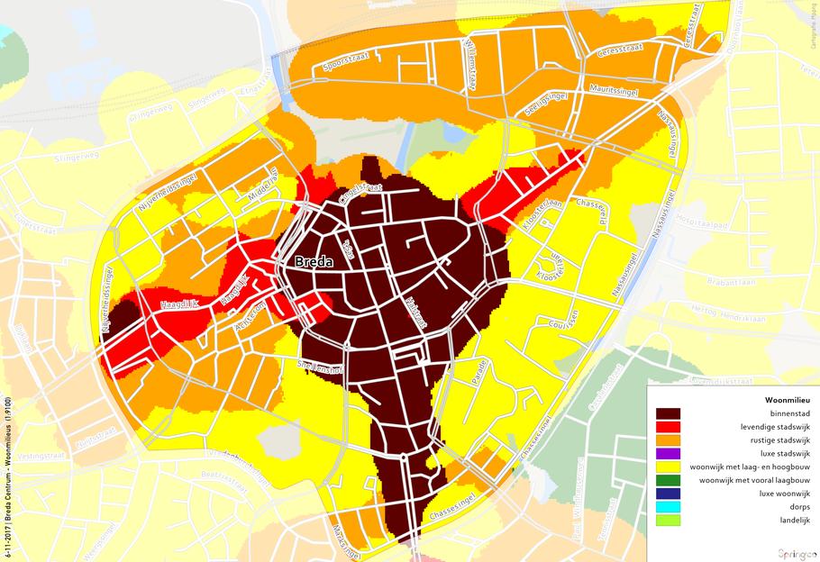 Breda centrum - Woonmilieus
