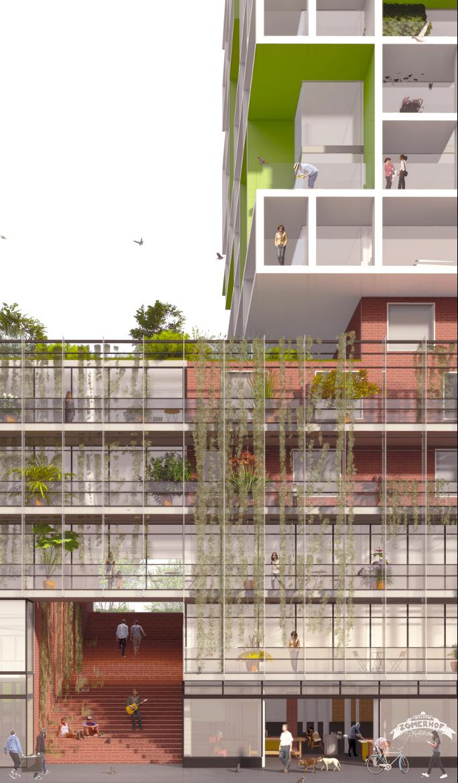 Zomerhofkwartier, dakpark -> ECHO urban design