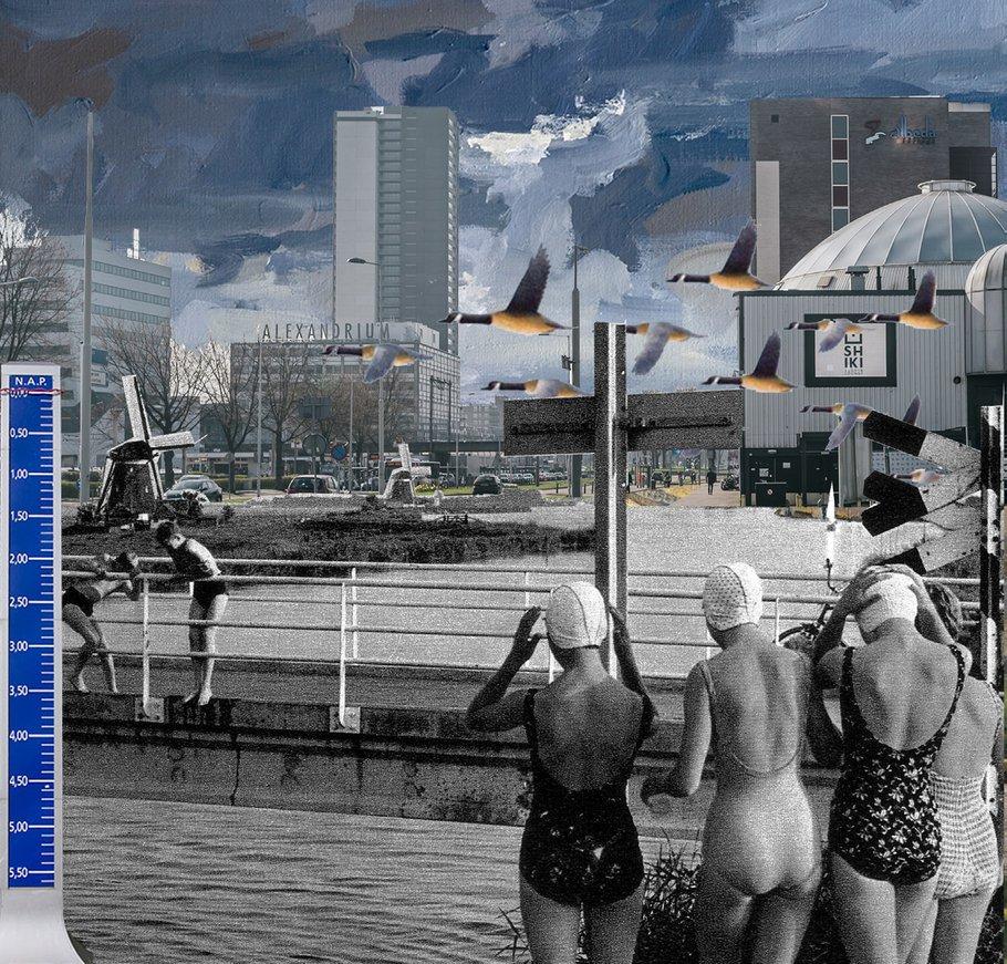 Collage mogelijke toekomst Rotterdam Alexanderknoop