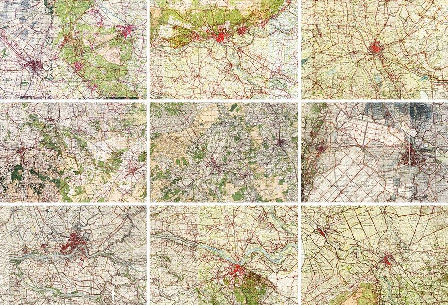 Stadsplattegronden in 1930