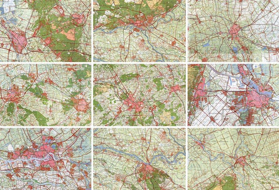 Stadsplattegronden in 1970