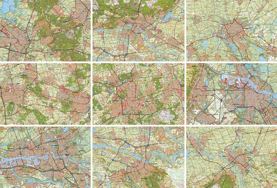 Stadsplattegronden in 2020