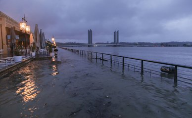 Overstroming 2014 bij Bordeaux