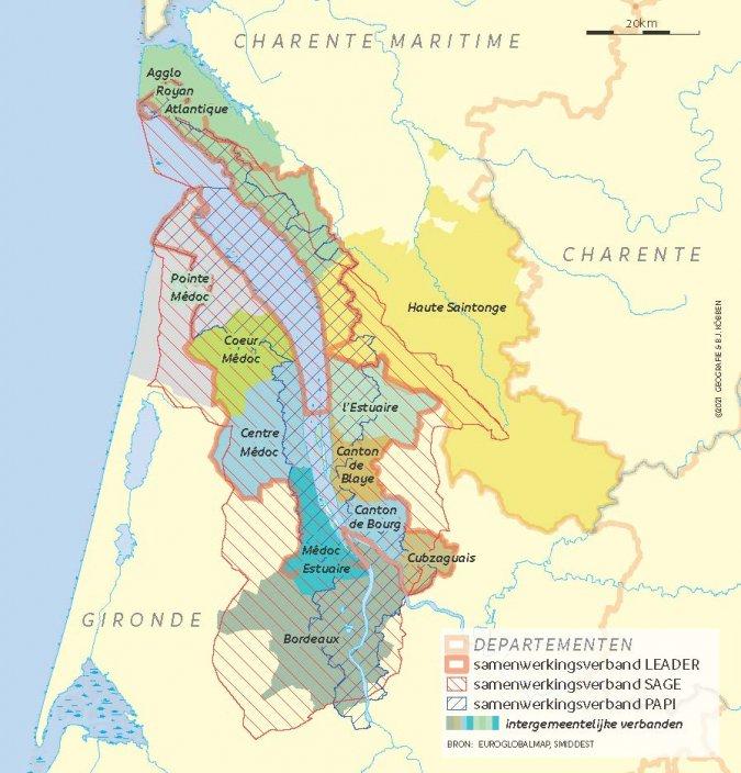Intergemeentelijke verbanden rond Bordeaux
