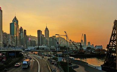 "Sunset Causeway Bay Hong Kong."" (Public Domain) by Bernard Spragg"