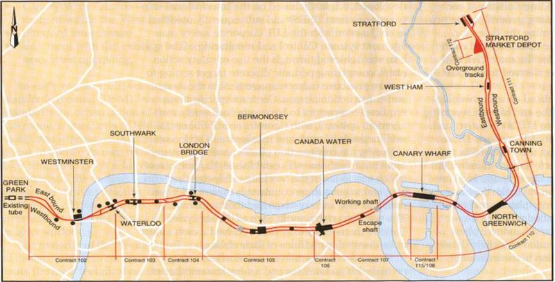 Figuur 3 Jubilee Line Extension ->  (credits Jubilee Line)