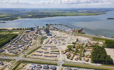 Luchtfoto Almere Duin