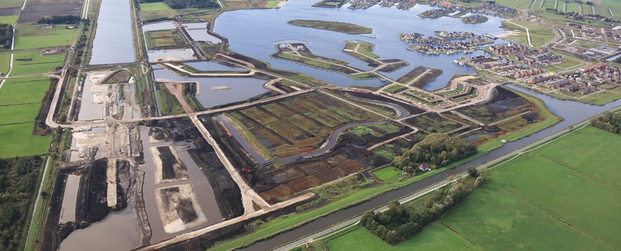 Meerstad, Groningen vanuit de lucht.