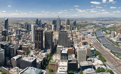 Melbourne Skyline Wikimedia Commons
