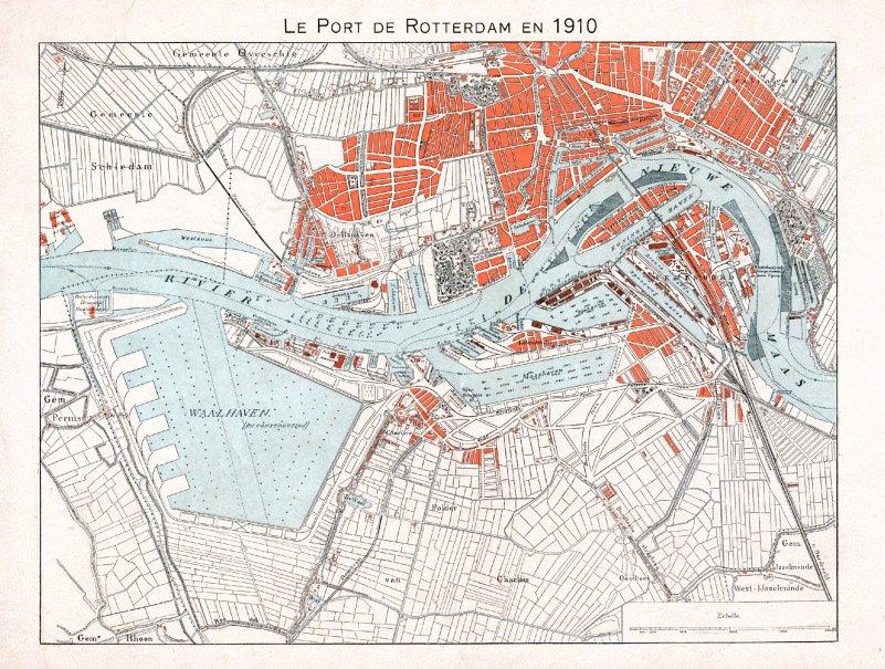 LE PORT DE ROTTERDAM EN 1910