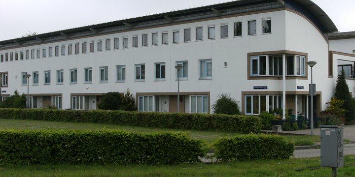 rijtjeshuis in het groen | Wikimedia Commons / Mark Ahsmann / CC BY-SA 3.0