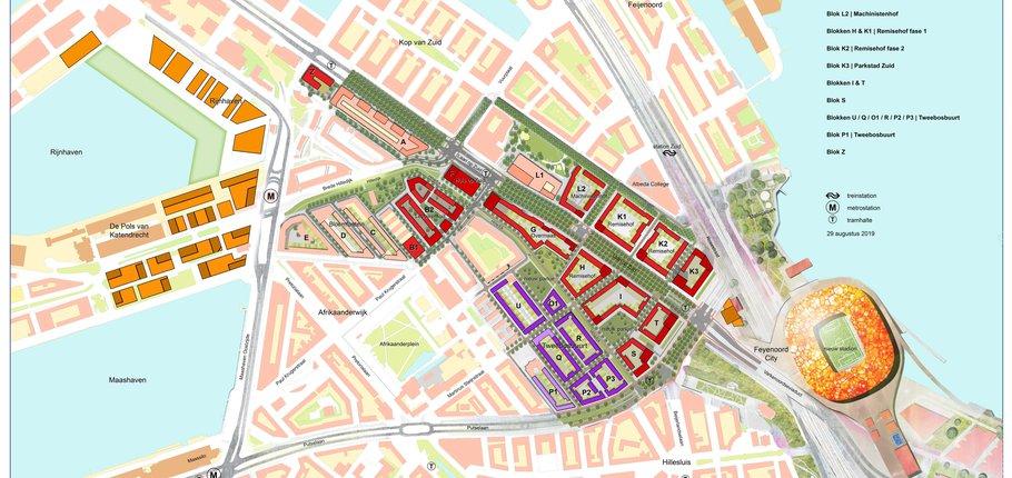 Parkstad Rotterdam - overzichtskaart