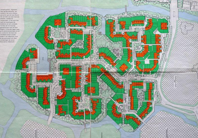 de kaart van het plan