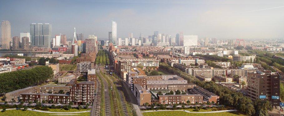 Parkstad Rotterdam - luchtfoto