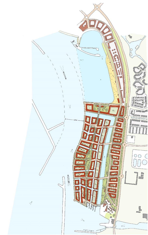 Plattegrond tekening Waterstad