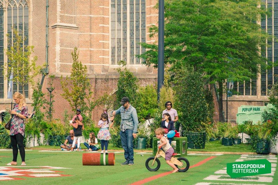 Pop-up park Rotterdam - Marcel Ijzerman
