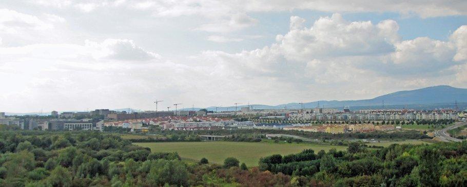 Panorama Riedberg von Osten, September 2010