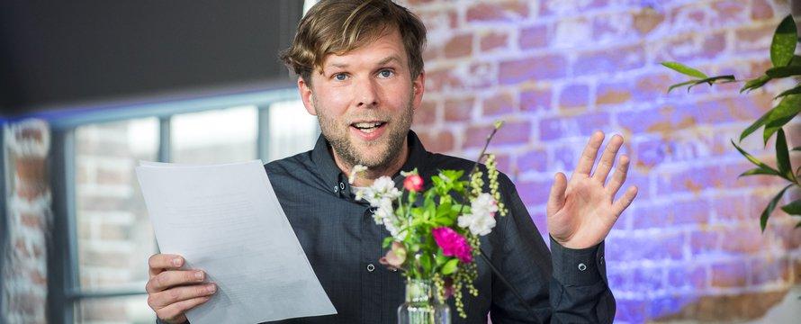 Columnist Inge Janse tijdens SKG Studio 2021