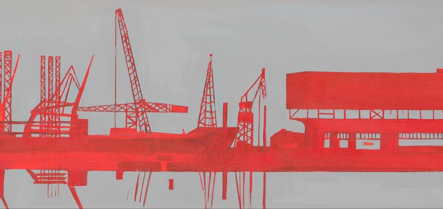 Noordelijke IJ_oever 2 -> illustratie van Sigrid van Essel