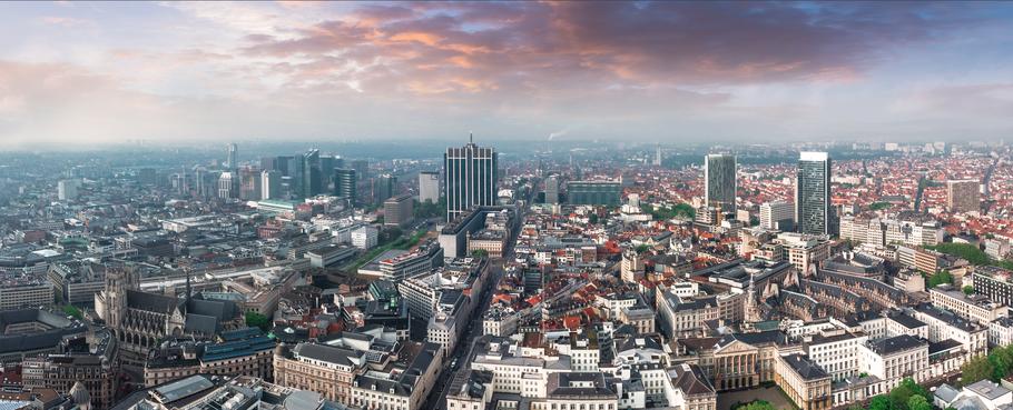 Panoramisch overzicht van Brussel