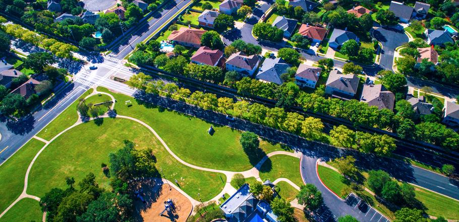 Texas - wijk met veel groen