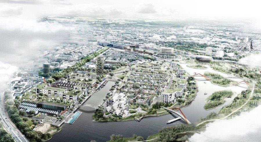 Schets beoogde transformatie Havenkwartier Breda