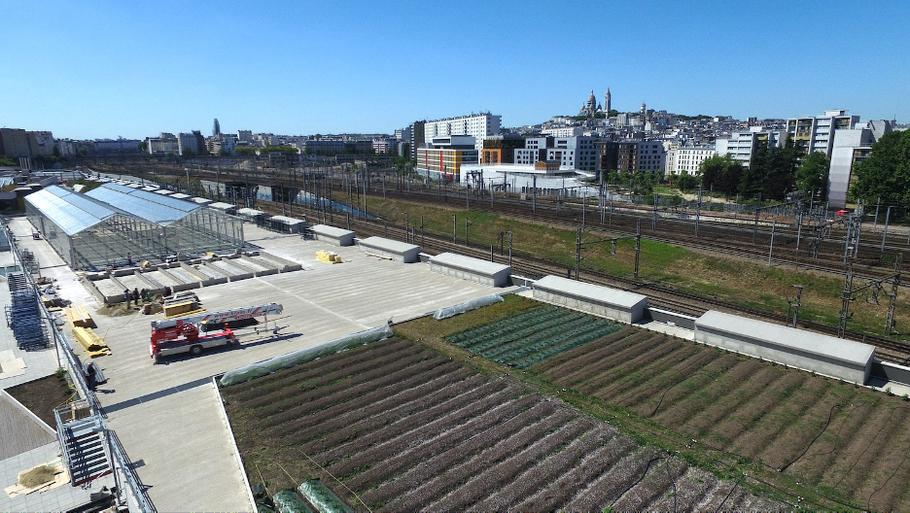Stadslandbouw Ferme Parisienne ©Cultivate. Foto: ©Philippe Lemetter - Flying Lab