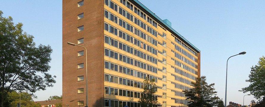 Studentenflat Selwerd transformatie herontwikkeling Groningen - Wikimedia Commons, 2020