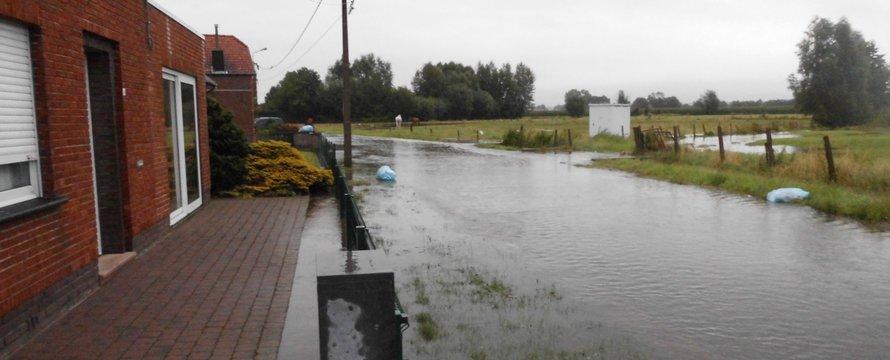 Wateroverlast Ursel