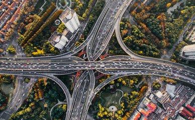 snelweg stad