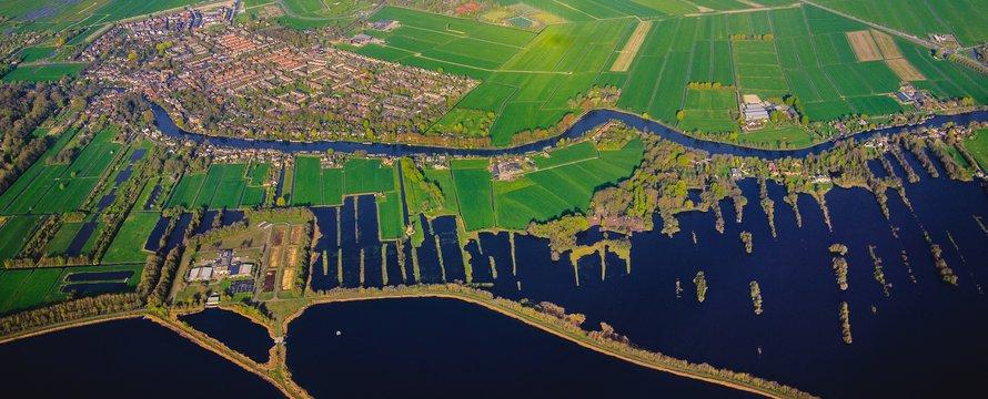 Luchtfoto Nederlands landschap