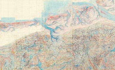 rood-blauw kaart