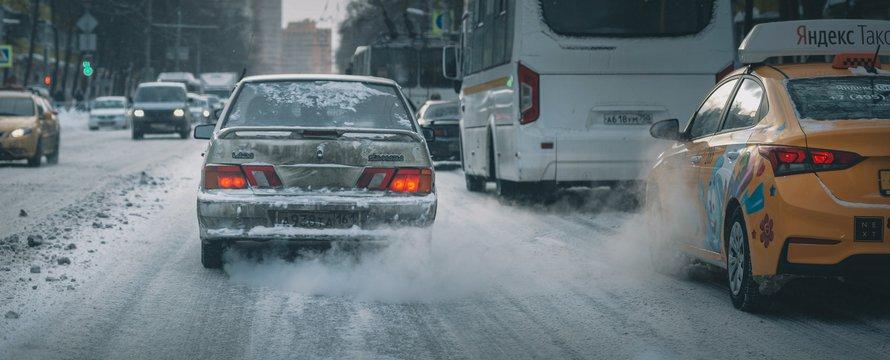 Uitlaatgassen auto