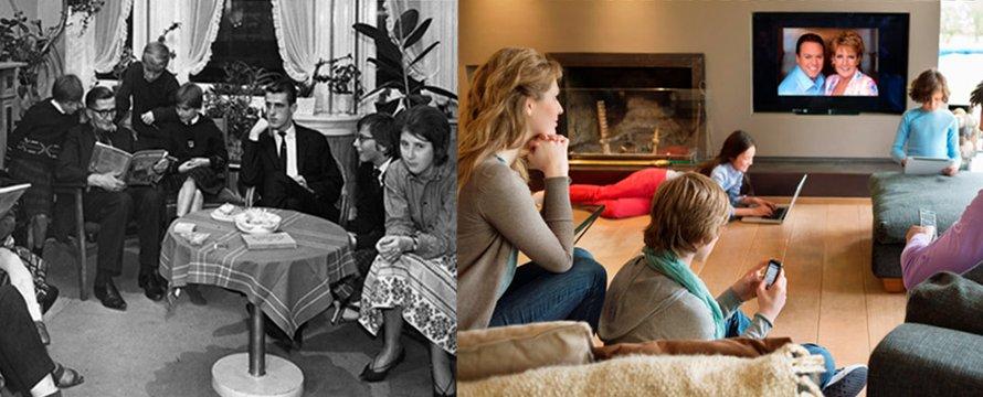 Gezinsleven toen en nu