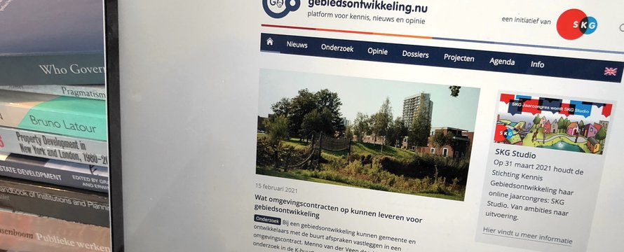 Screenshot laptop Gebiedsontwikkeling.nu