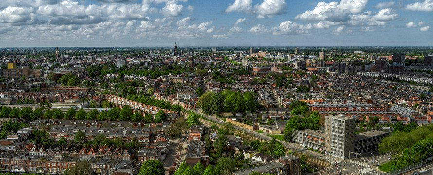 Groningen luchtfoto - Pixabay, 2020