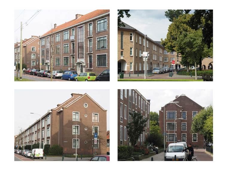 Figuur 4 Portiekwoongebouwen van Moerwijk. Foto's auteur