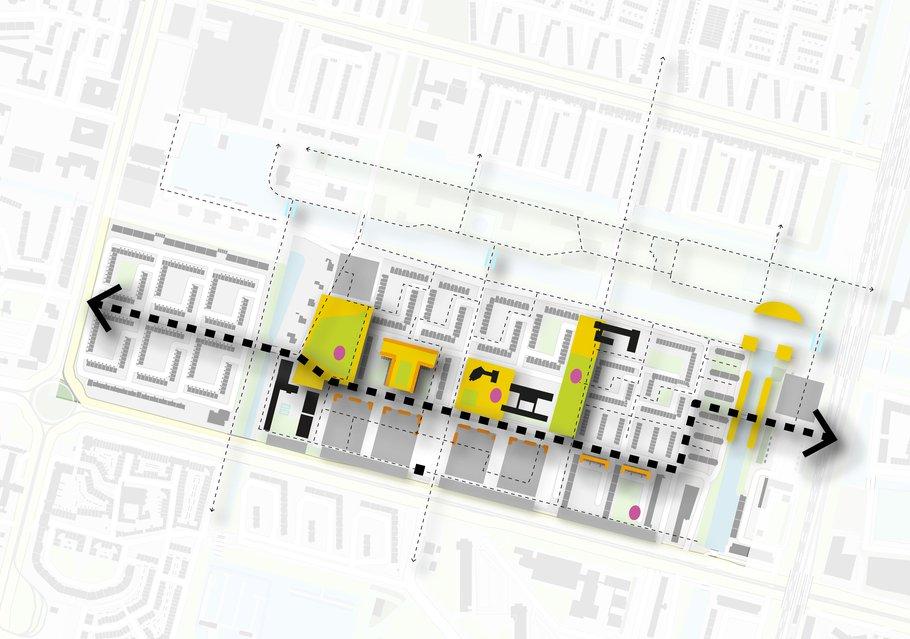 Kansenkaart - verbinding met de Couperusstraat.
